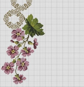 çiçekli etamin seccade şablon
