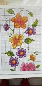 Flowers crossstitch pattern 1