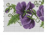 purple poppy cross stitch pattern