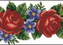 dome elegant flowers crossstitch pattern