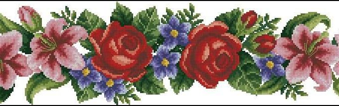 dome elegant flowers crossstitch pattern