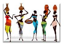 african girls crossstitch pattern
