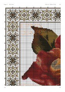 rose pano crossstitch pattern 1