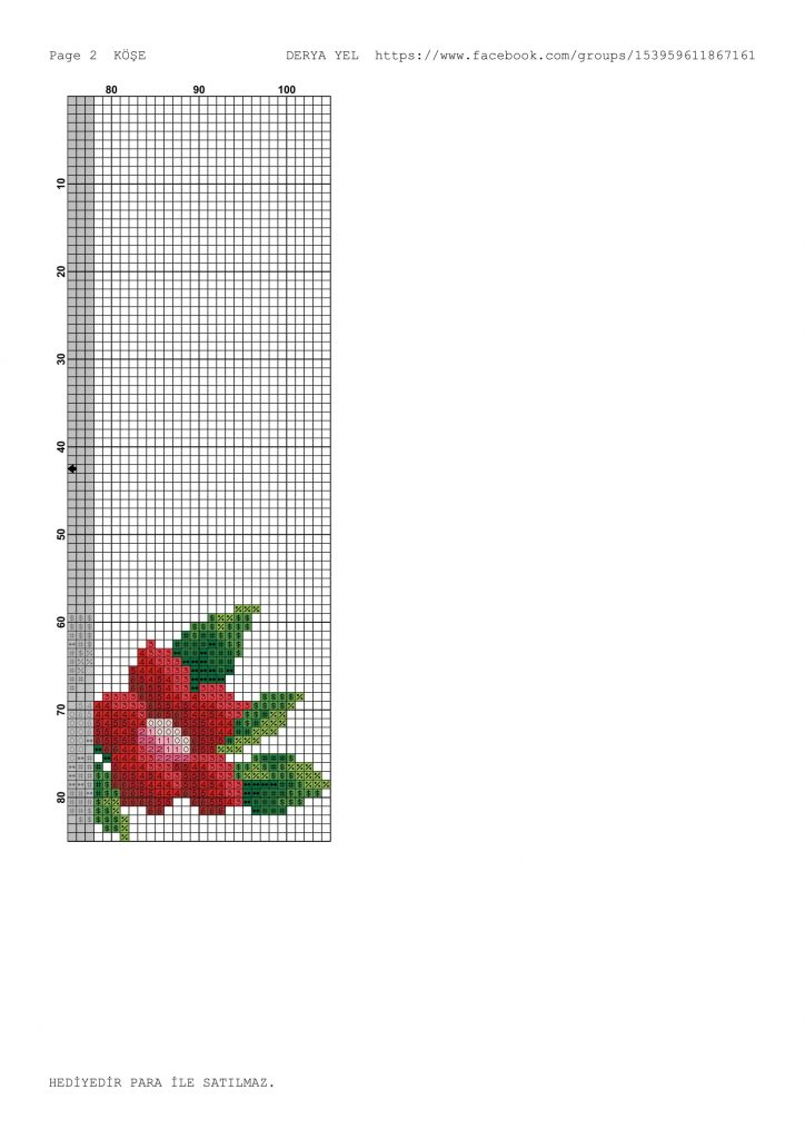 rose flowers corner crossstitch pattern-2